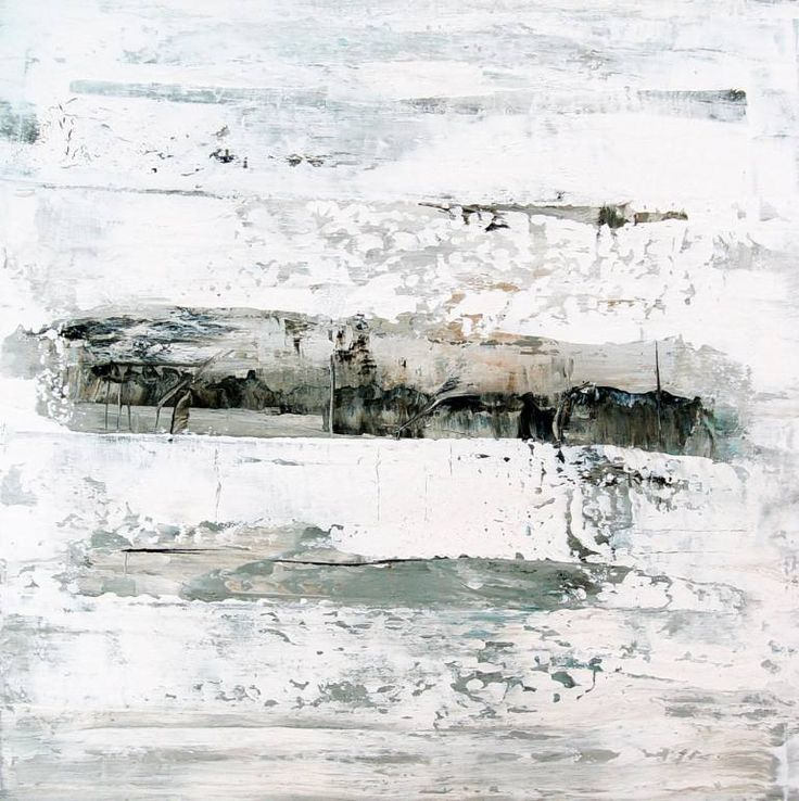 Buy IX243, a Acrylic on Canvas by Radek Smach from Czech Republic. It portrays: Abstract, relevant to: white, winter, abstract expressionism, landscale, contemporary, expressionism, abstract, layered, minimalism, modern Original abstract layered painting on canvas.  Ready to hang. No framing required (it can be framed).