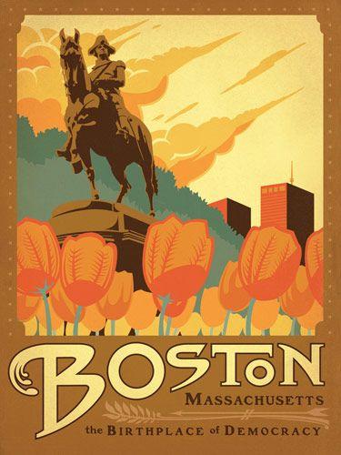 Affiches touristiques vintages des USA affiche poster vintage usa ville 08 design bonus