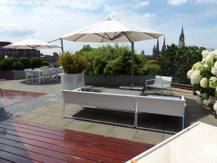 Ook voor uw dakterras kan een plan gemaakt worden. Geniet meer  van uw terras als tuinkamer. www.houdijkstijltuinen.nl