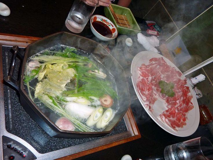 Shabu-Shabu--Boiled Meat dipped in sause served in restaurents