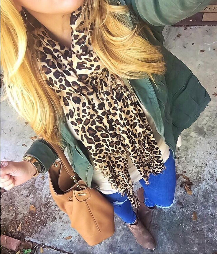 Leopard scarf outfit inspiration www.januaryhart.com