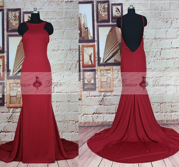 Long Prom DressHigh Neck Backless Prom DressesSexy by GraceGown