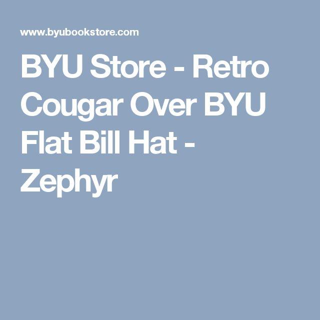 BYU Store - Retro Cougar Over BYU Flat Bill Hat - Zephyr