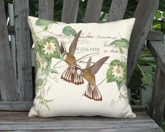 Small Pillow Emerald Crested Hummingbird Pillow Cover by artanlei