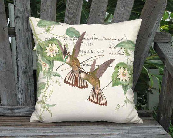 Small Pillow Emerald Crested Hummingbird Pillow Cover by artanlei