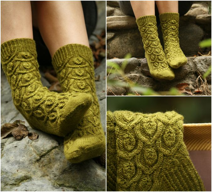 """I just happened across this blog - """"never not knitting"""" This is her latest book and it is GORGEOUS! Everything in it is AMAZING~! Ivy Trellis Socks from Botanical Knits"""