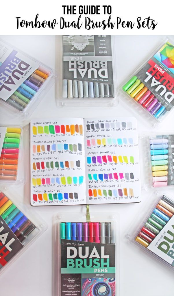 The Color Guide To Tombow Dual Brush Pen Sets Brush Pen