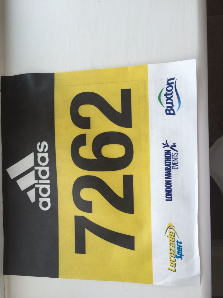 My number for the Silverstone half marathon on 12th March 2016.