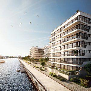 """Hier tut sich viel: Berliner Neubauprojekte am Wasser. Bild: """"wave"""" Bauwerk Capital https://neubau-berlin.de/2017/06/13/hier-tut-sich-viel-berliner-neubauprojekte-am-wasser/ #Berlin #Immobilien #Neubau"""