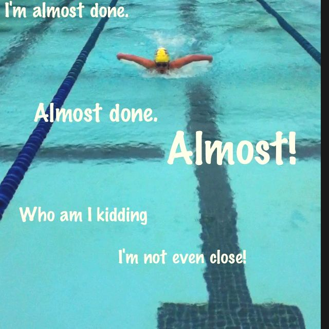 Weird that I think this when i swim 4 laps of fly and never whe i swim 20 laps of free...
