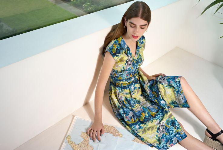 Vibrant coloured shirt dress by EMILYANDFIN