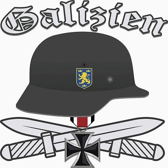 Waffen SS Galizien Division with Iron Cross #waffen_ss, #ss, #wehrmacht, #nazi, #hitler, #iron_cross, #eagle, #nuremberg, #helmet, #m35, #dagger, #war, #ww2, #germany, #ukraine, #division