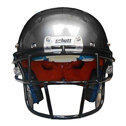 Schutt Recruit Hybrid Youth Football Helmet w/ Black DNA EGOP Facemask (Pewter, Large)