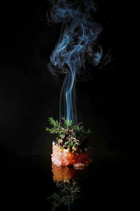 Smoked Veal tartare, caviar, horseradish, watercress | dish . Gericht . plat | Food. Art + Style. Photography: Food on black by Mads Refslund |
