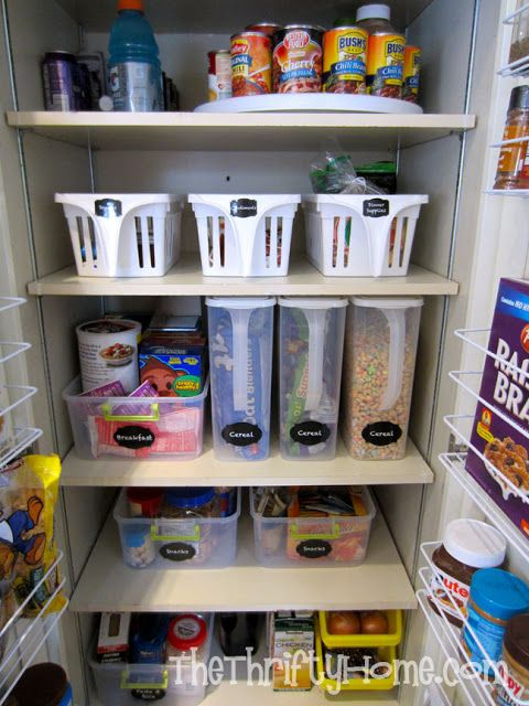 great money saving ideas to redo our pantrythe thrifty home simple solutions to organize a deep pantry