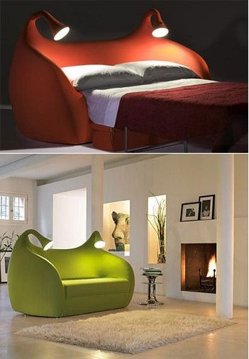 sofa-beds-modern: In My Dreams, Creative Beds, Spare Rooms, Small Living Rooms, Cool Beds, Small Rooms, Kids Libraries, Sofas Beds, Beds Design