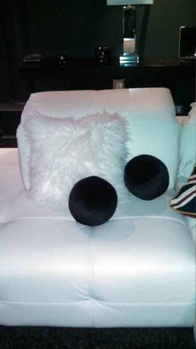 Funky round scatter cushions