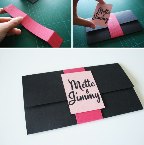 Invitation DIY guide,lukket invitation
