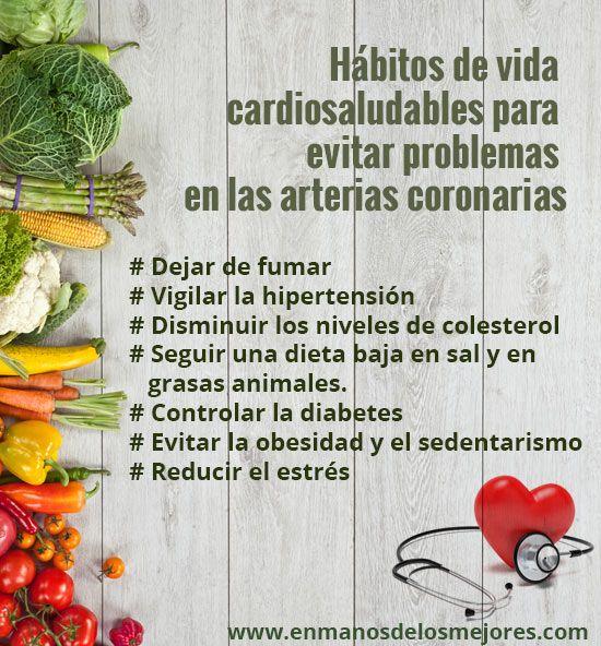 Hábitos saludables para prevenir enferemedades coronarias #bypass #bypassCoronario
