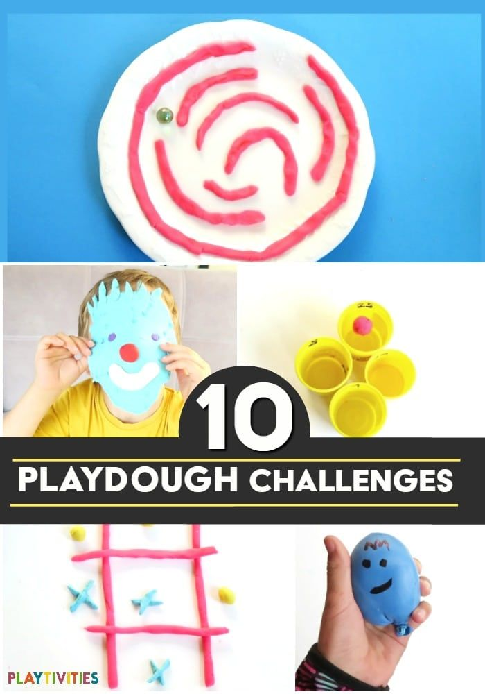 Playdough Challenges For Kids With Games and DIY Toys