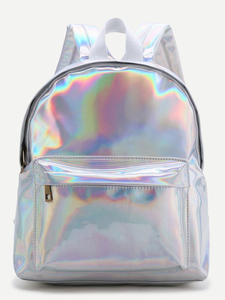 Sliver Front Pocket PU Backpack | MakeMeChic.COM Mobile Site