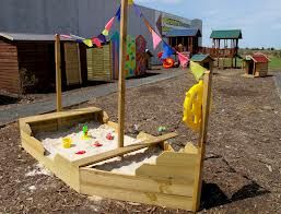 Great imaginative play with a boat sandpit