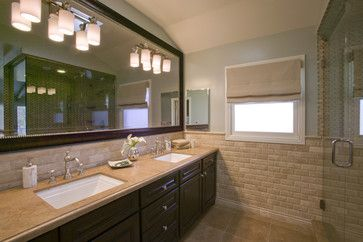 Framed Mirrors Over Bathroom Countertop Design Ideas, Pictures, Remodel, and Decor - page 8