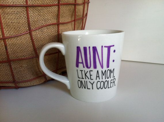 AUNT: Like a Mom Only Cooler Coffee by MorningSunshineShop on Etsy