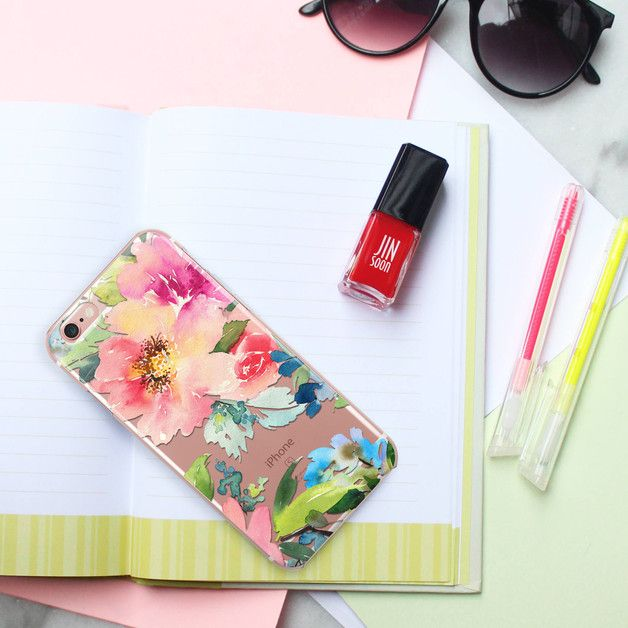 crystal clear case, iPhone, Flower case
