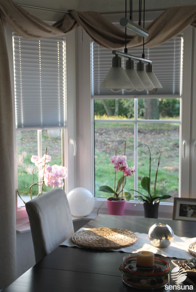 SensunaR Verdunkelungsplissees In Weiss White Pleated Blinds Grau PlisseeWohnzimmerJalousie