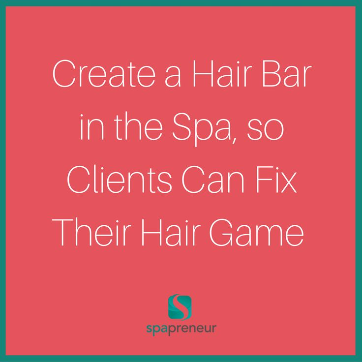 They're relaxed, but their hair doesn't have to be a mess. Get some high-quality hair products, brushes, and leave them where clients can see. Better, partner with a salon to provide the products and they get a bit of free advertising. #100 #spa #businessadvice #spaadvice #spalife #guide #spatips #tips #ebook #massage #skincare #nails #nailcare #dayspa #spaprofessional #businesstips #biztips #biztip #entrepreneur #entrepreneurial #businessowner #advice #tip #advicequotes #sales #branding