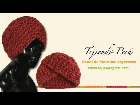 Cómo tejer un gorro tipo turbante en ganchillo tunecino (o cualquier técnica!) - YouTube
