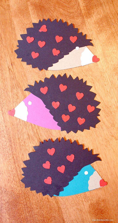 Make handmade Valentines Day cards | Hedgehog DIY Valentine cards | Bright Bold and Beautiful