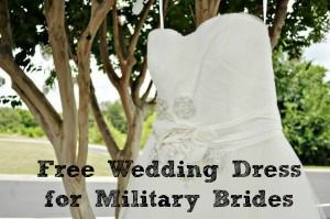 Military brides can snag a FREE wedding dress! What a deal!