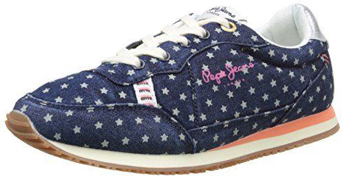 Pepe Jeans London SYDNEY STARS, Mädchen Sneakers, Blau (576WASHED NAVY), 32 EU - http://on-line-kaufen.de/pepe-jeans/32-eu-pepe-jeans-london-sydney-stars-maedchen