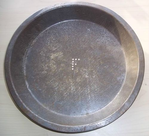 Old Frisbie Pie Plate Frisbie's Pies Tin Tray w F in Center Now Frisbee | eBay