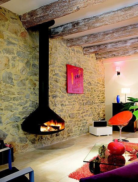chemin e murale design foyer ouvert paxfocus focus. Black Bedroom Furniture Sets. Home Design Ideas