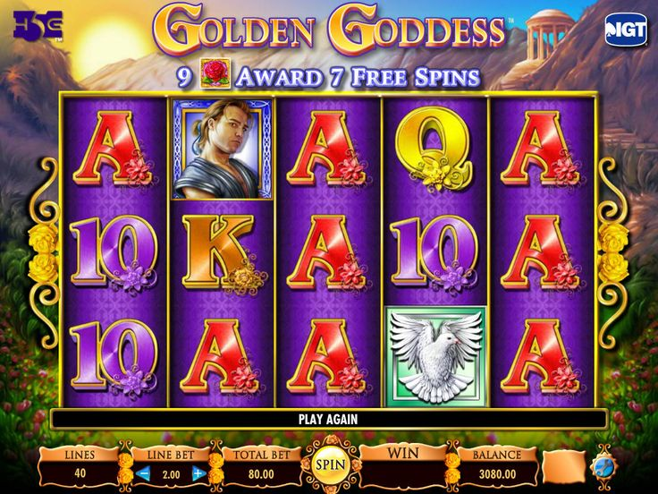 Golden Goddess - http://freeslots77.com/golden-goddess/ - Greek mythological characters have always been on the radar of slot developers and this time, IGT has brought a Greek goddess on the reels of an online slot machine called the Golden Goddess. The 5-reel and the 40-payline slot is here with the features like Super Stacks and free spins that will...