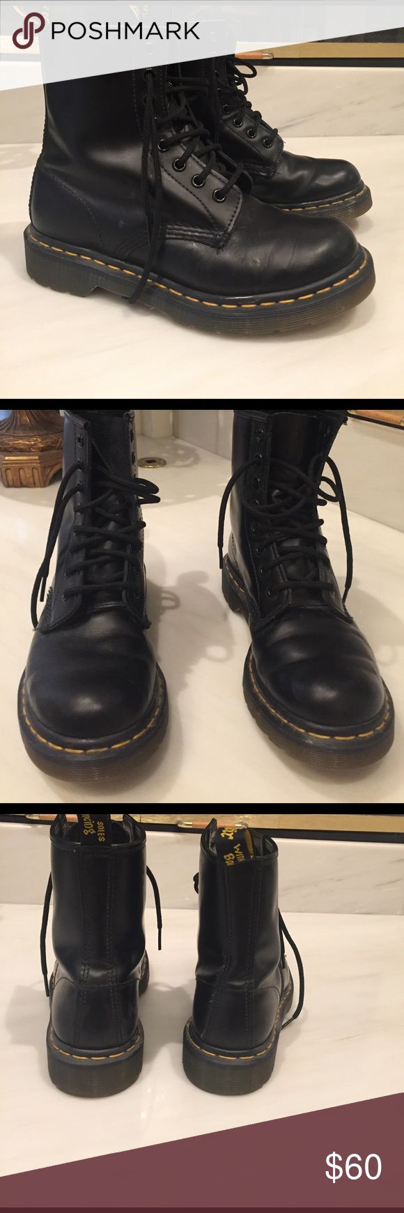 Dr Martens boots Dr Martens black boots. Practically new Dr Martens Shoes Combat & Moto Boots