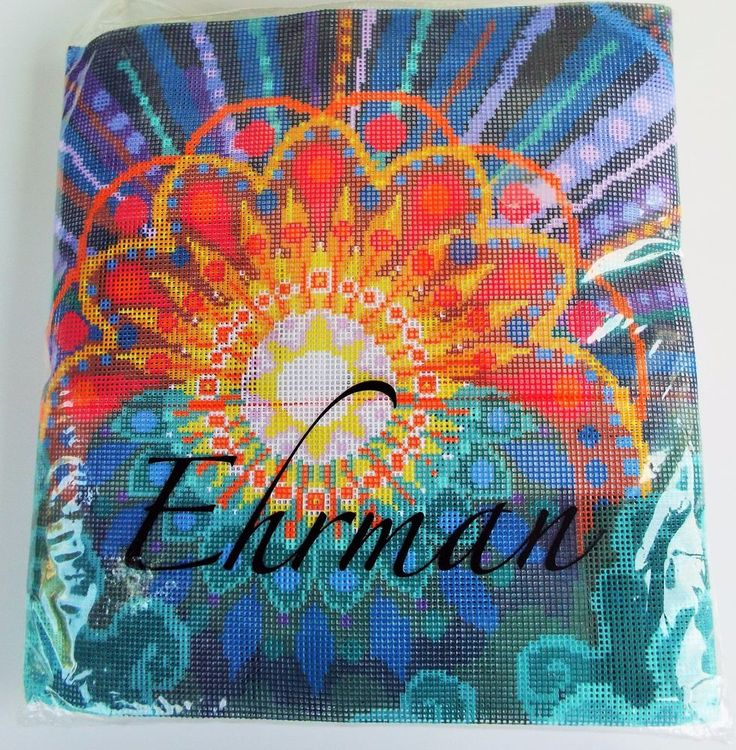 EHRMAN CREATION SERIES DAY 1 LIGHT NEEDLEPOINT TAPESTRY KIT 16X16  #Ehrman