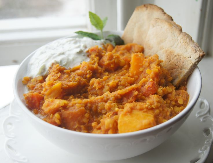 Tandoori Spiced Sweet Potato. This tasted amazing! Could have totally been thrown into the crock pot, too, with little prep ( wouldn't need to precook lentils). I was out of carrots, so used canned with no problem. Delicious!