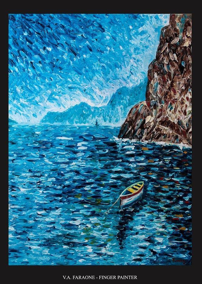 """CAPRI"" oil on canvas 60x80cm fingerpaint technique www.faraonepainter.com  Ti piace e vuoi acquistarlo? Do you like it? Buy it! https://www.etsy.com/it/listing/548581821/olio-su-telafinger-paintingcapriquadro?ref=shop_home_active_8"