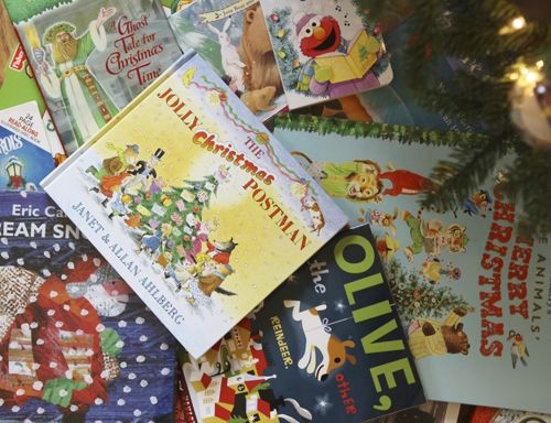 Unwrap a book a day Advent.  I think I want to do this next year.  We have our activity calendar which is great, but we could read more and this might be the way to do it.