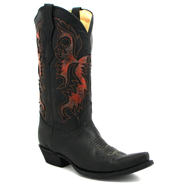 Men's Corral Black and Red Bootat Maverick Western Wear · Red BootsWestern  ...
