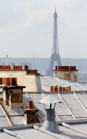 Rooftops, Paris- I love rooftops!!  Dancing on the rooftop like the scene in Mary Poppins has always been a dream of mine! lol