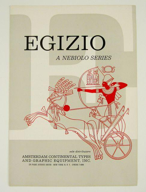 Egizio Specimen Booklet by Herb Lubalin Study Center