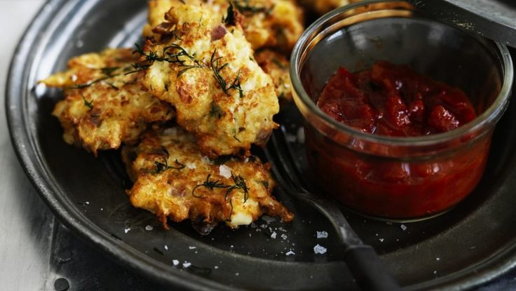 Neil Perry's spicy cauliflower fritters