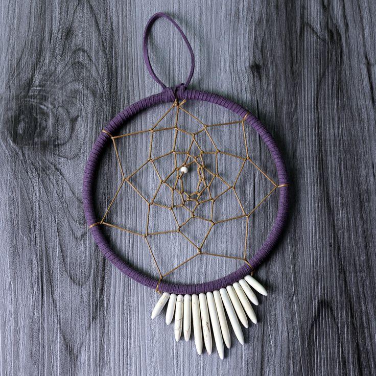 "Ivory Urchin Dreamcatcher - 5"" in Diameter by WildwoodCeramics on Etsy"