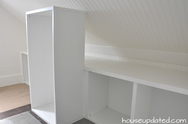 Honeycomb Shelves Above Bed
