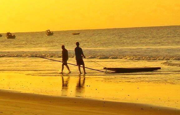 #men #sunset #boat #fisher